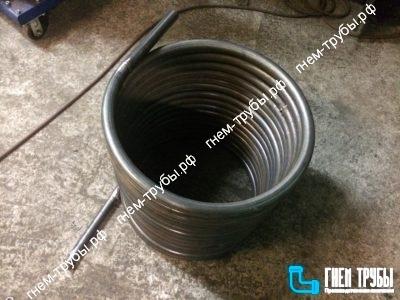 Изготовление змеевика для дровяного водонагревателя бассейна из 25 ВГП трубы